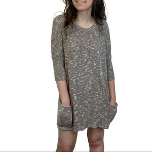 Express Brown Knitted Dress